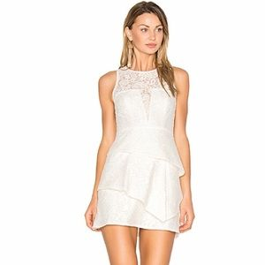 White BCBG sundress. Perfect for a bridal shower!